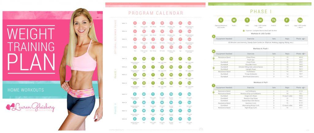 Lauren Gleisberg - Weight Training Plan